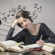 studying listening to music